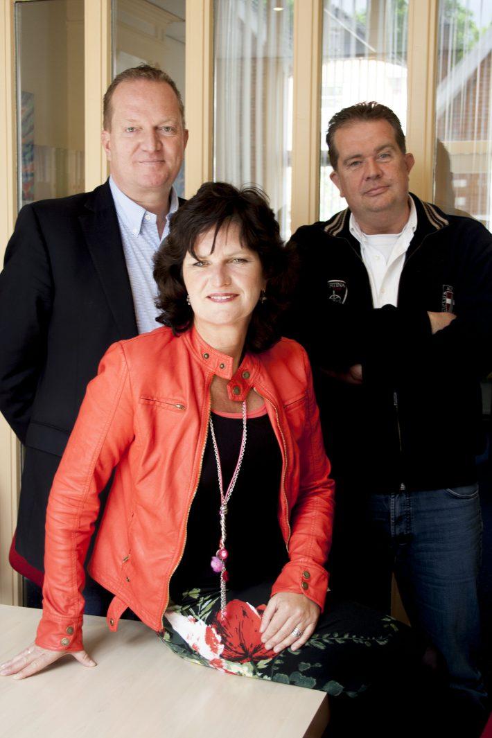 Van links naar rechts: Dick Boersema, Trudy Westra en Gertjan Boersema